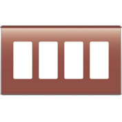 Legrand® WP5004-SP Studio Wall Plate, 4-Gang, Spanish Red