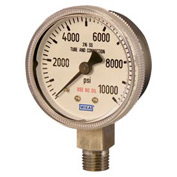 """2.5"""" Type 131.15 3,000PSI Gauge - 1/4"""" NPT LM Chrome Plated Steel"""