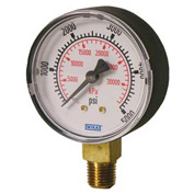 "2.5"" Type 111.10 30INHG/100PSI/KPA Gauge - 1/4"" NPT LM Polished Brass"