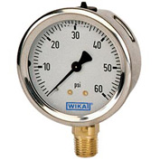 "2.5"" Type 213.53 30INHG VAC Gauge - 1/4"" NPT LM Stainless Steel"