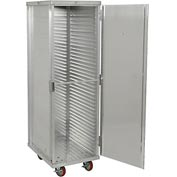 "Winholt EC1840-C - Enclosed Mobile Transport Cabinet, 68""H, 40 Pan Capacity, Aluminum"