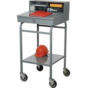 "Steel Receiving Desk, Mobile, 22""W"