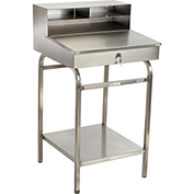"24""W x 22""D Open Steel Receiving Desk"