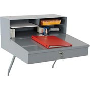 "Wall Mounted Receiving Desk 24""W x 22""D Gray"