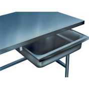 "Stainless Steel Drawer for 24"" Wide Tables"