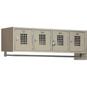 "Winholt Garment 4 Person Wall Mount Locker WL-4 48""W x 18""D x 13-5/8""H Putty Assembled"