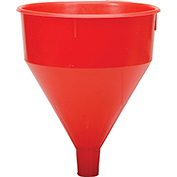 Funnel King® Red Safety Polyethylene 6 Quart Funnel - 32005