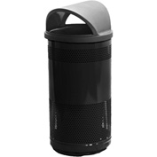 Stadium Series® 35 Gallon Receptacle w/Hood Top Lid, Black - SC35-01-BB-HT