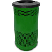 Stadium Series® 35 Gallon Receptacle w/Flat Top Lid, Evergreen - SC35-01-GN-FT