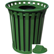 Witt Wydman 36 Gallon Slatted Steel Swing Top Receptacle, Green - WC3600-SWT-GN