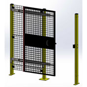 "Husky Rack & Wire Matrix Guard Tunnel Door, Single, 5'W x 5' 6""H, Slide Right to Open, Black"