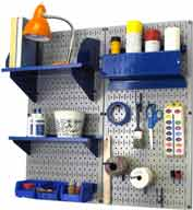 "Wall Control Pegboard Hobby Craft Organizer Storage Kit, Gray/Blue, 32"" X 32"" X 9"""