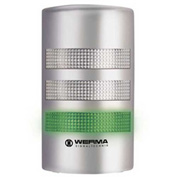 Werma 69130055 Flatsign BM 24V AC/DC, LED-Permanent/Blinking, 233 g, Green/Yellow/Red