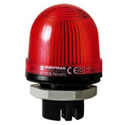 Werma 80010000 Permanent Beacon EM 12 - 240V AC/DC, IP65, 58 g, Red