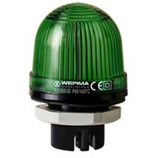 Werma 80020000 Permanent Beacon EM 12 - 240V AC/DC, IP65, 58 g, Green