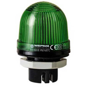 Werma 80120067 LED Perm. Beacon EM 115V AC, IP65, 25 Ma, 59 g, Green