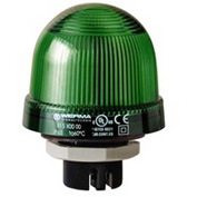 Werma 81520000 Permanent Beacon EM 12 - 240V AC/DC, IP65, 96 g, Green