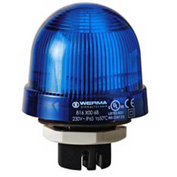 Werma 81550000 Permanent Beacon EM 12 - 240V AC/DC, IP65, 96 g, Blue