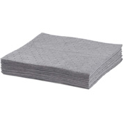 "ESP Sorbents Oil-Only Meltblown Bonded Pads, 15"" x 18"", Gray, 100/Bale"