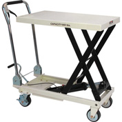 JET® SLT Series Scissor Lift Table with Folding Handle 140777 - 660 Lb. Cap.