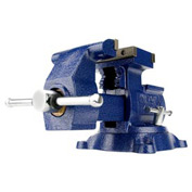 "Wilton 14500 Model 4500 5-1/2"" Jaw Width 3-3/4"" Throat (2-3/4"" Rev.) Rev. Mechanics Vise W/ Swivel"