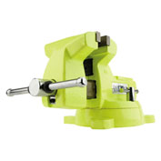 "Wilton 63187 Model 1550 5"" Jaw Width 3-3/4"" Throat Depth High-Visibility Safety Vise W/ Swivel"