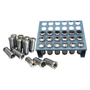 "JET 650016, 5-C Collet Set, 35-Piece, 1/6"" - 1-1/8"" By 1/32"" Increments W/ Metal Rack"
