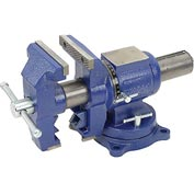 "Wilton 69999 5"" Jaw Width 3"" Throat Depth Multi-Purpose Vise W/ Rotating Head, V Jaw, & Swivel Base"