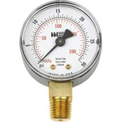 "2"" dial, 1/4"" NPT bottom, 0-15PSI"