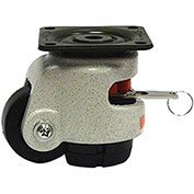 WMI® Rotation Handle Build-In Leveling Caster WMIWR-50PF - 374 Lb. Load Rating - Plate Mounted