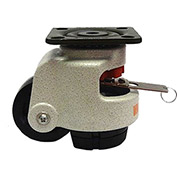 WMI® Rotation Handle Build-In Leveling Caster WMIWR-72PF - 1190 Lb. Load Rating - Plate Mounted