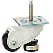 WMI® Caster and Leveler in One Unit WMLC-200FS - 440 Lb. Load Rating - Plate Mounted