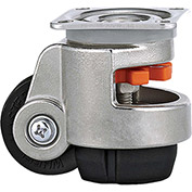 WMI® Stainless Steel Leveling Caster WMS-40F - 220 Lb. Load Rating - Plate Mounted