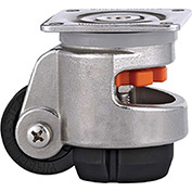 WMI® Stainless Steel Leveling Caster WMS-60F - 1100 Lb. Load Rating - Plate Mounted