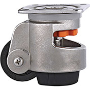 WMI® Stainless Steel Leveling Caster WMS-80F - 1763 Lb. Load Rating - Plate Mounted