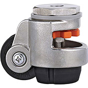 WMI® Stainless Steel Leveling Caster WMSPIN-40S - 220 Lb. Load Rating - Stem Mounted