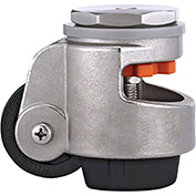 WMI® Stainless Steel Leveling Caster WMSPIN-80S - 1763 Lb. Load Rating - Stem Mounted