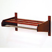 "25 3/4"" Hat & Coat Rack w/ 5/8"" Chrome Bar - Mahogany"