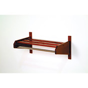 "25 3/4"" Hat & Coat Rack w/ Chrome Bar - Mahogany"