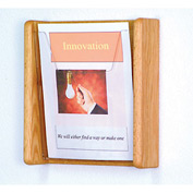 1 Pocket Acrylic & Oak Wall Display - Light Oak