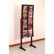 12 Pocket Contemporary Floor Display - Mahogany