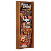 3 Pocket (3H) Acrylic & Oak Wall Display - Medium Oak