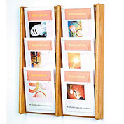 6 Pocket (2Wx3H) Acrylic & Oak Wall Display - Light Oak
