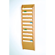 10 Pocket Chart Holder - Light Oak