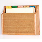 Single Pocket Chart Holder - Light Oak