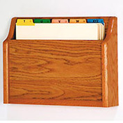 Single Pocket Chart Holder - Medium Oak