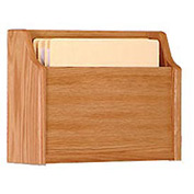 Extra Deep Single Pocket Chart Holder - Light Oak