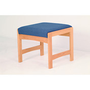 One Person Bench - Medium Oak/Blue Vinyl