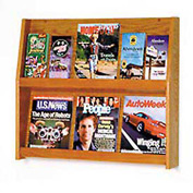 6 Magazine/12 Brochure Wall Display - Medium Oak