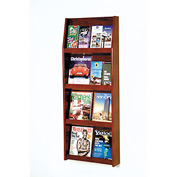 8 Magazine/16 Brochure Wall Display - Mahogany